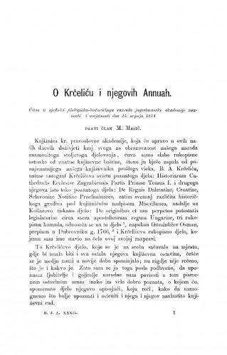 O Krčeliću i njegovih Annuah : RAD