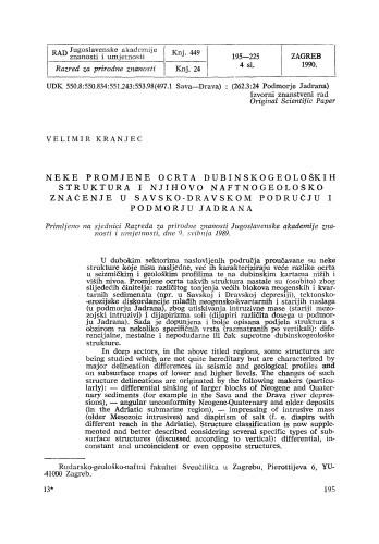 Neke promjene ocrta dubinskogeoloških struktura i njihovo naftnogeološko značenje u Savsko-Dravskom području i podmorju Jadrana