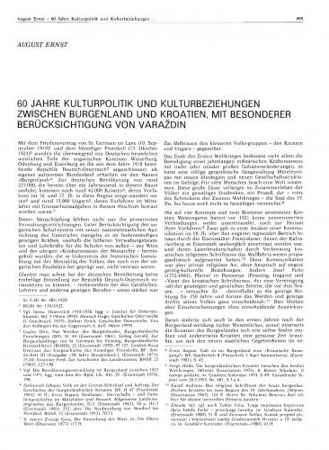 60 Jahre Kulturpolitik und Kulturbeziehungen zwischen Burgenland und Kroatien mit besonderer Berücksichtigung von Varaždin