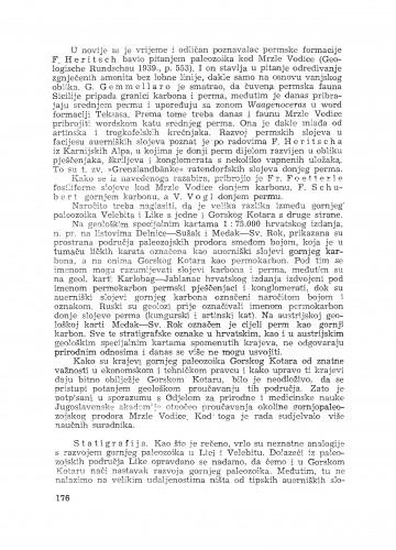Gornji paleozoik u okolini Mrzle Vodice u Gorskom Kotaru / M. Salopek
