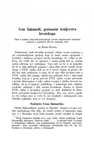 Ivan Zakmardi, protonotar kraljevstva hrvatskoga
