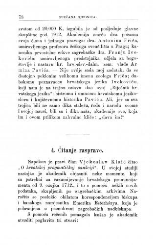 O hrvatskoj pragmatičkoj sankciji : [résumé.] / V. Klaić