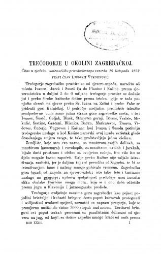 Trećogorje u okolini zagrebačkoj : RAD