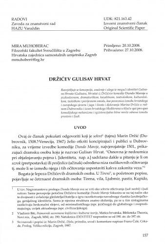 Držićev Gulisav Hrvat : Radovi Zavoda za znanstveni rad Varaždin