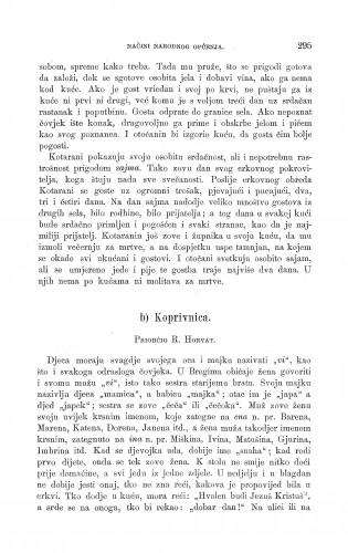 Koprivnica : načini narodnog općenja : Zbornik za narodni život i običaje