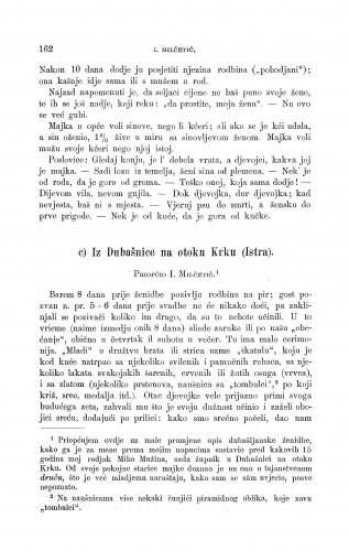 Iz Dubašnice na otoku Krku (Istra) : ženidbeni običaji : Zbornik za narodni život i običaje