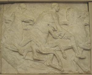 Dva konajnika, Partenon- južni friz