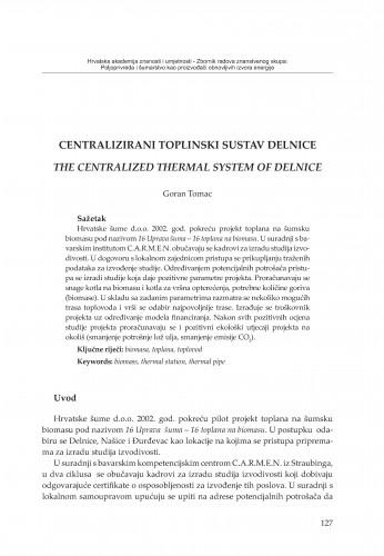 Centralizirani toplinski sustav Delnice