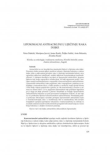 Liposomalni antraciklini u liječenju raka dojke