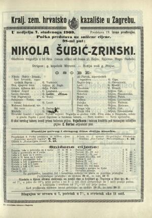 Nikola Šubić Zrinski Glazbena tragedija u tri čina (8 slika)