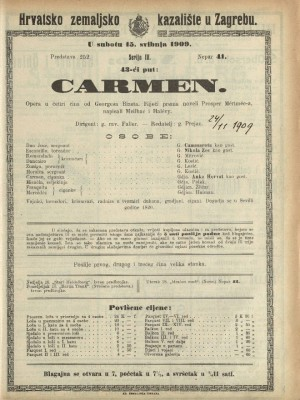 Carmen : Opereta u četiri čina
