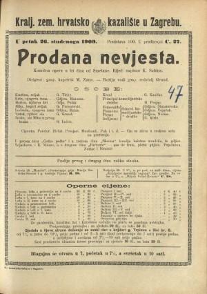 Prodana nevjesta Komična opera u 3 čina / od Smetane