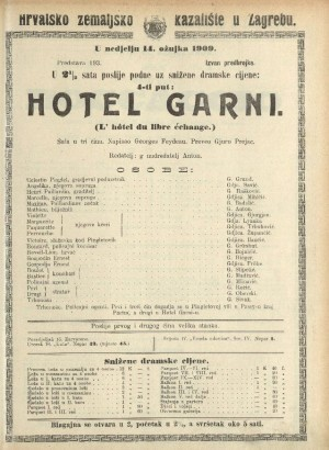 Hotel Garni Šala u tri čina  =  L'Hôtel du libre échange