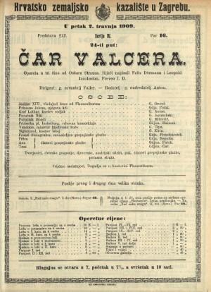 Čar valcera  =  Ein Walzertraum : Opereta u tri čina
