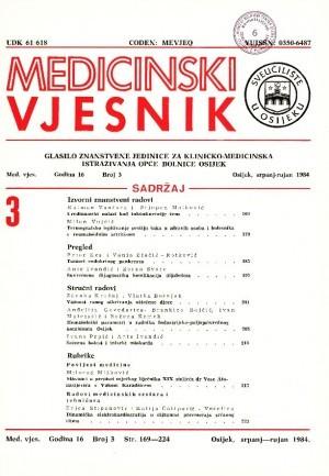 God. 16, br. 3(1984) : Medicinski vjesnik