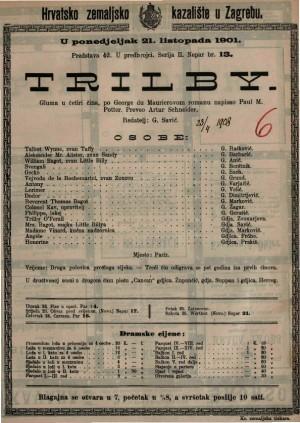 Trilby gluma u četiri čina / napisao Paul M. Potter