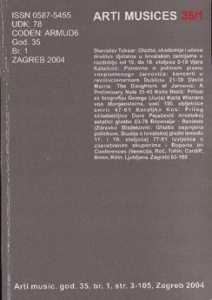 God. 35(2004), br. 1 : Arti musices
