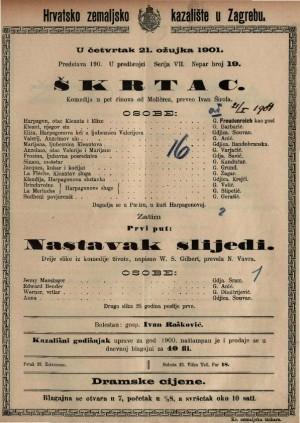 Škrtac komedija u pet činova / od Molièrea