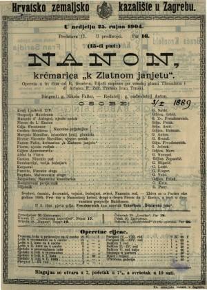 Nanon, krčmarica k zlatnom janjetu opereta u 3 čina / od R. Genée-a