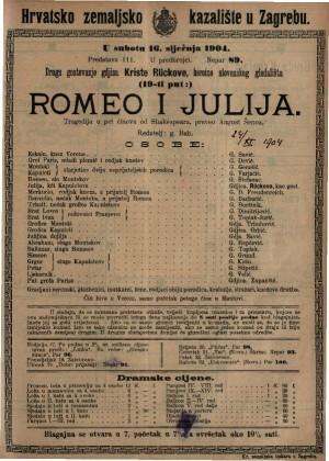 Romeo i Julija tragedija u pet činova / od Shakespeara