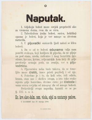 Naputak Kraljevske zemaljske vlade od 27. travnja 1900. godine