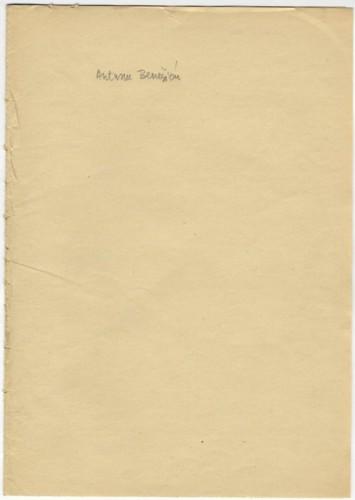 Pisma Antunu Benešiću