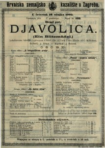Djavolica lokalizovana lakrdija s pjevanjem u četiri slike / glazba od C. Millöckera