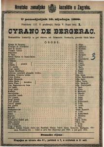 Cyrano de Bergerac romantička komedija u pet činova / od Edmonda Rostanda
