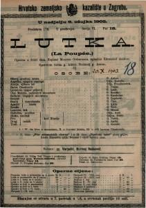 Lutka : opereta u četiri čina / uglazbio Edmuond Audran  =  La Poupée
