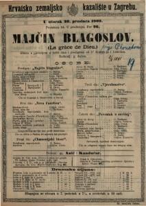 Majčin blagoslov : gluma s pjevanjem u četiri čina i predigrom / od D'Ennery-ja i Lemoina  =  La grâce de Dieu