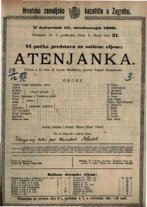 Atenjanka Drama u tri čina / od Leona Ebermanna