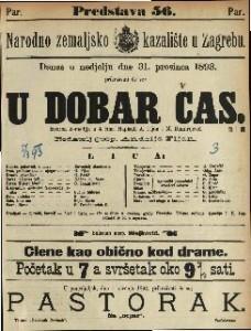 U dobar čas Izvorna komedija u 4 čina / Napisali A. Fijan i M. Dimitrijević