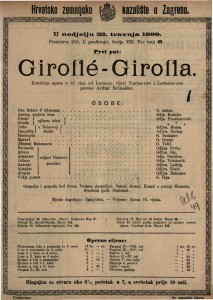 Giroflé-Girofla komična opera u tri čina / od Lecocqa