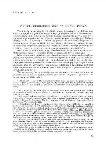 Počeci sociologije međunarodnog prava