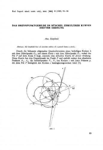 Das Brennpunktgebilde im Büschel zirkulärer Kurven dritter Ordnung