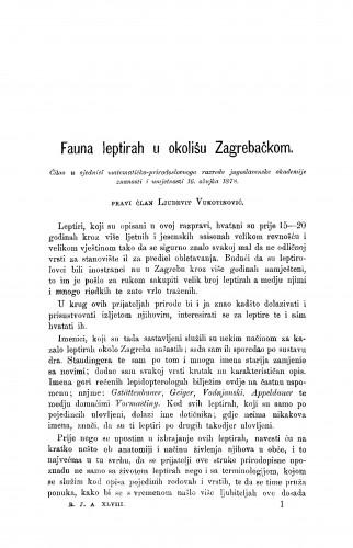 Fauna leptirah u okolišu Zagrebačkom : RAD