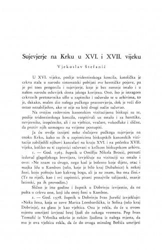 Sujeverje na Krku u XVI. i XVII. vijeku / V. Štefanić