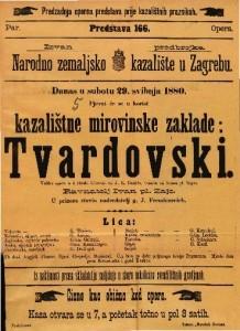 Tvardovski Velika opera u 5 činah / Glasba od Ivana pl. Zajca