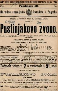 Pustinjakovo zvono Komična opera u 3 čina / Francezki napisali Lockroy i Cormon