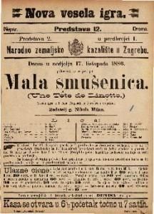 Mala smušenica Vesela igra u 3 čina / Napisali ju8 Barriere i Gondinet  =  Une Tete de Linotte