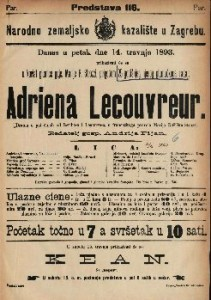 Adriena Lecouvreur : Drama u pet činah