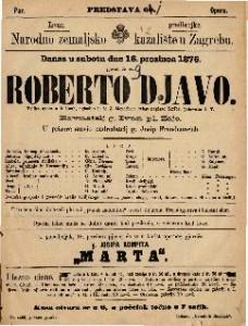 Roberto djavo velilka opera u 5 činah / uglasbio ju je J. Meyerbeer