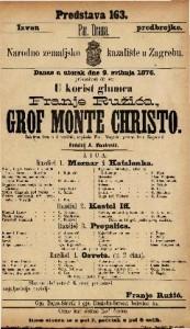Grof Monte Christo žalostna igra u 4 razdiela / napisala Ther. Megerle