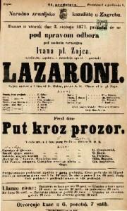 Lazaroni ; Put kroz prozor Šaljiva opereta u 1 činu ; Vesela igra u 1 činu