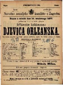Djevica Orleanska romantična tragedija u 5 činah i jednom predigrom / napisao Fr. Schiller