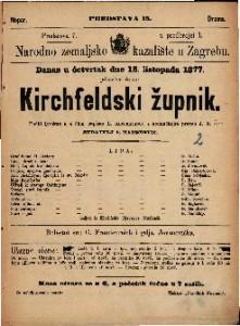 Kirchfeldski župnik pučki igrokaz u 4 čina / napisao L. Anzengruber