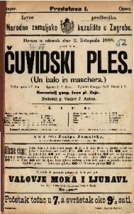 Čuvidski ples Velika opera u 3 čina / Uglasbio G. Verdi  =  Un balo in maschera