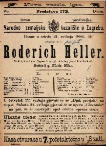 Roderich Heller Vesela igra u 4 čina / Napisao Franjo pl. Schönthan