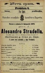 Alesandro Stradella Romantična opera u 3 čina od Friedricha pl. Flotova / pohrvatio I. T.