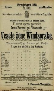 Vesele žene Windsorske vesela opera u 3 čina / po istoimenoj Schakespearevoj veseloj igri preradjeno od H. S. Mosenthala